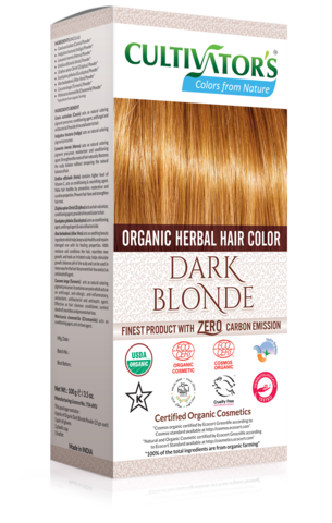 Organic Herbal Hair Color, Dark Blonde