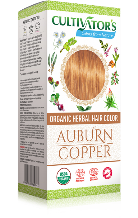 Organic Herbal Hair Color, Auburn