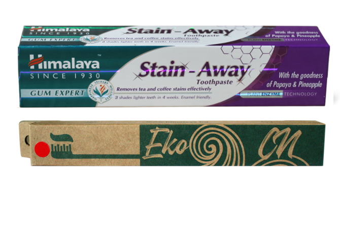 Set: Stain Away Toothpaste + Toothbrush