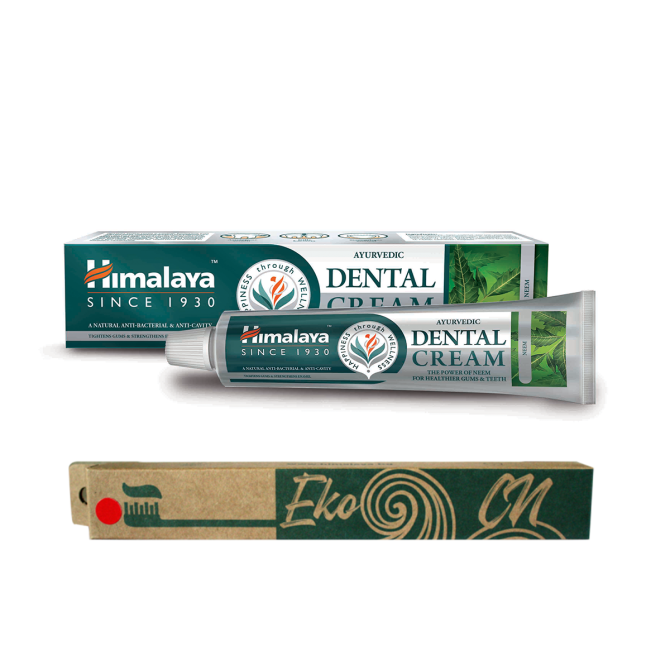 PROMO: Bamboo toothbrush for Adults + Ayurvedic Dental Cream with NEEM