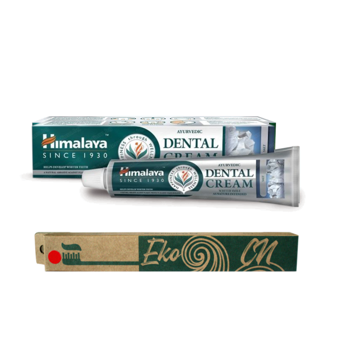 PROMO: Bamboo toothbrush for Adults + Ayurvedic Dental Cream with