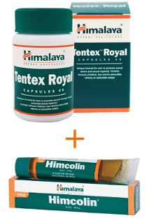 Promotional set - Tentex royal 60 caps and Himcolin gel 30 g