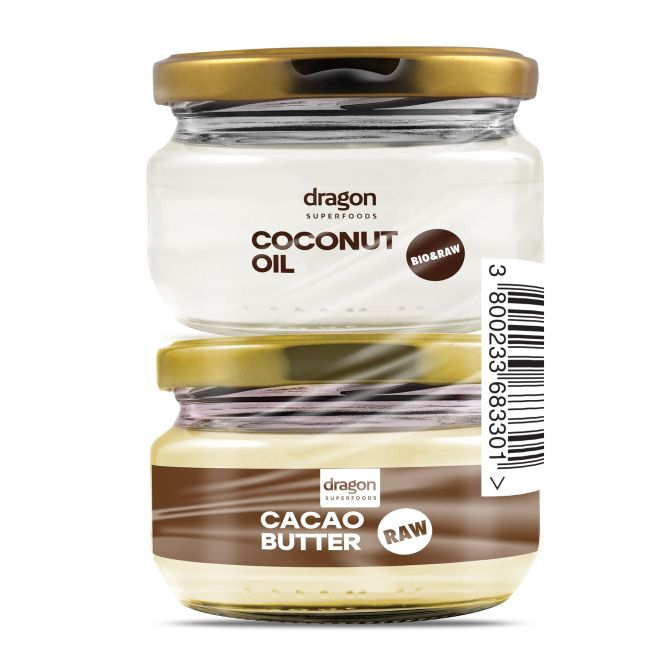 Coconut Oil 100 ml and Cocoa oil 100 ml