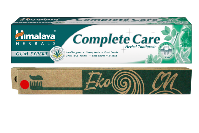 PROMO: Bamboo toothbrush for Adults + Complete Care Herbal Toothpaste