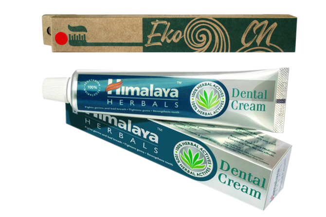 PROMO: Bamboo toothbrush for Adults + Dental Cream 100 g